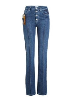 Sonia Rykiel High Waist Jeans with Embroidery