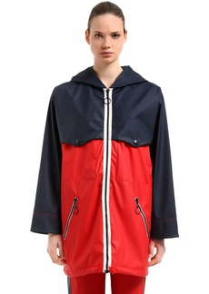 Sonia Rykiel Hooded Two Tone Matte Vinyl Parka