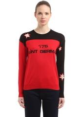 Sonia Rykiel Intarsia Two Tone Silk & Cotton Sweater