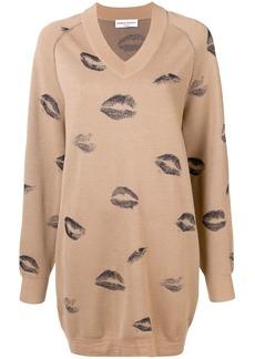 Sonia Rykiel kiss print sweater dress