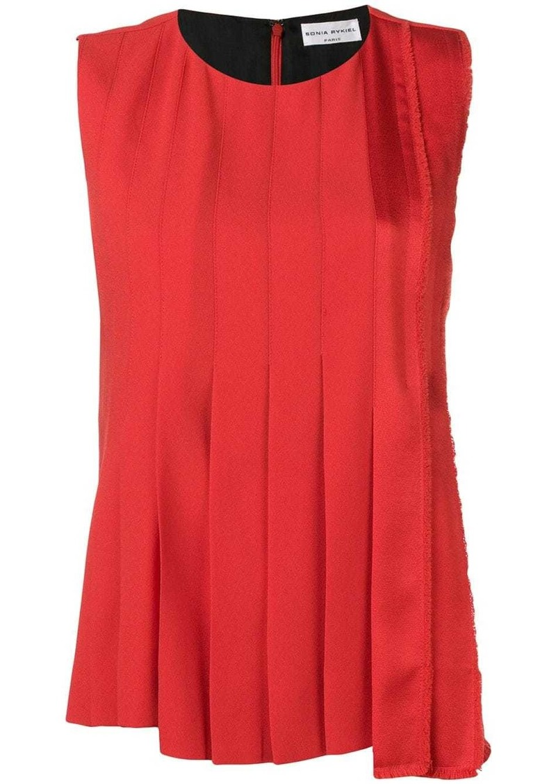 Sonia Rykiel large pleat blouse