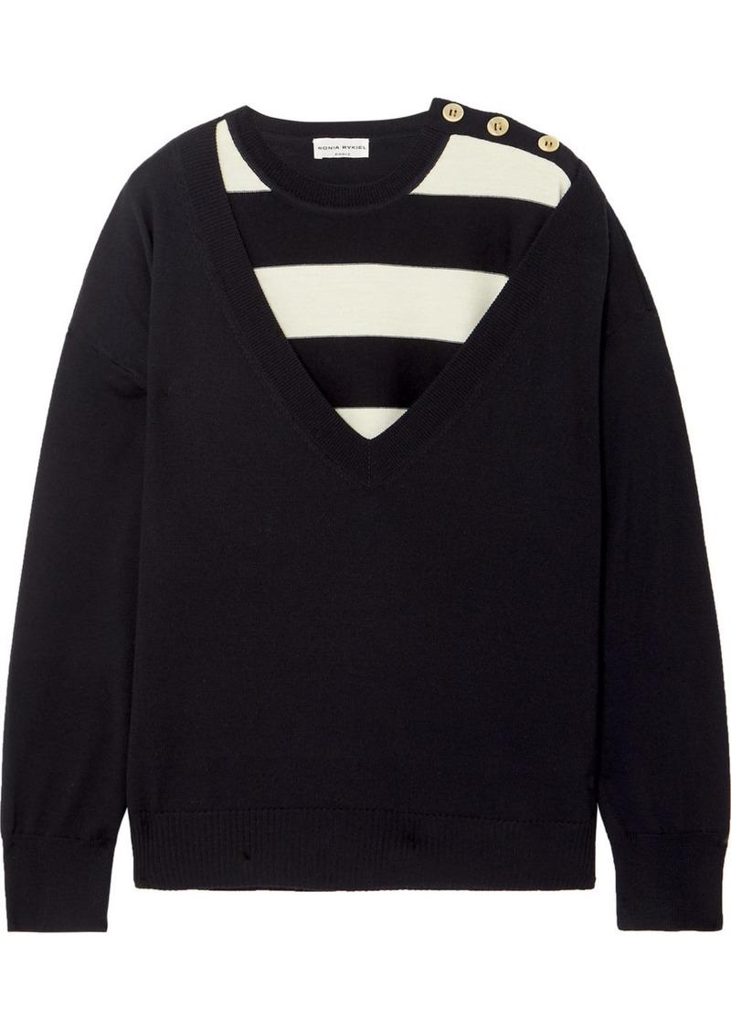 Sonia Rykiel Layered Striped Wool Sweater