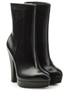 Sonia Rykiel Leather Boots with Platform