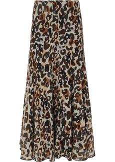 Sonia Rykiel Leopard-print Silk-chiffon Maxi Skirt