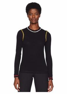 Sonia Rykiel Lightweight Cotton Stripe Long Sleeve Shirt