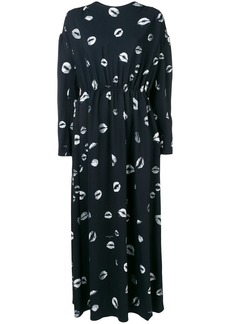 Sonia Rykiel lip print maxi dress