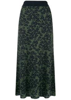 Sonia Rykiel lips lurex maxi skirt