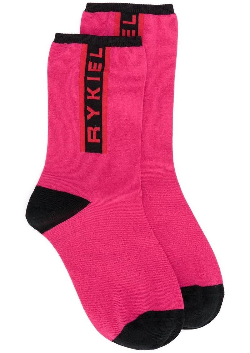 Sonia Rykiel logo print socks