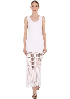 Sonia Rykiel Long Cotton Macramé Knit Dress