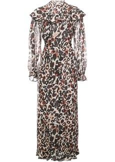 Sonia Rykiel long leopard print dress