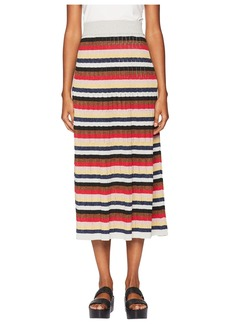 Sonia Rykiel Lurex Striped Long Skirt