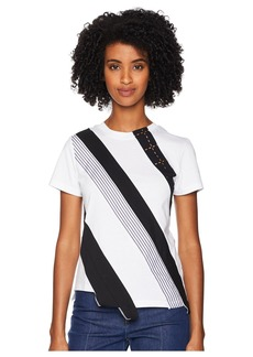 Sonia Rykiel Mix Fabrics Short Sleeve Tee