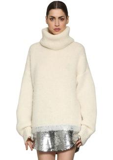 Sonia Rykiel Mohair & Alpaca Sweater W/ Sequin Hem