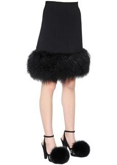 Sonia Rykiel Mongolia Fur & Wool Crepe Skirt