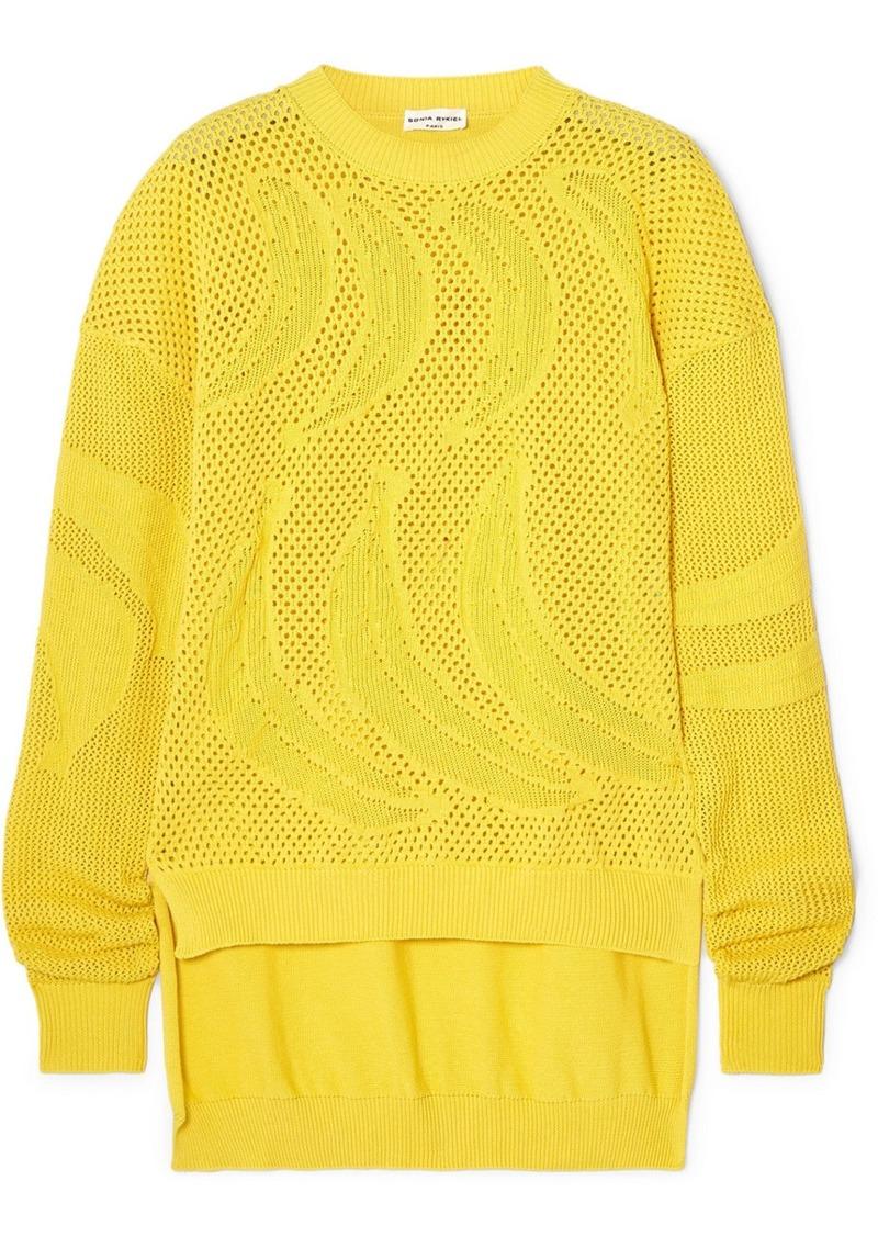 Sonia Rykiel Open-knit Cotton Sweater