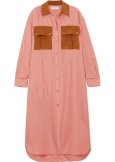 Sonia Rykiel Oversized Color-block Silk-satin Dress