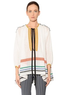Sonia Rykiel Oversized Cotton & Linen Voile Blouse