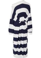 Sonia Rykiel Oversized Striped Cotton And Wool-blend Maxi Dress