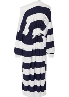 Sonia Rykiel Oversized Striped Cotton And Wool-blend Maxi Dress