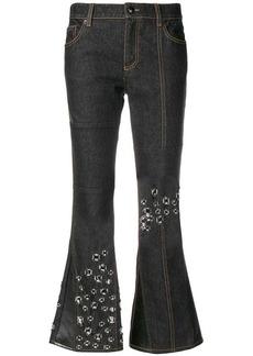 Sonia Rykiel patchwork design distressed jeans