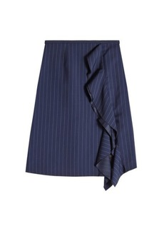 Sonia Rykiel Pinstriped Skirt with Virgin Wool and Silk