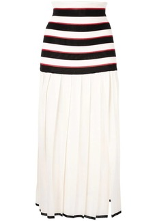 Sonia Rykiel pleated striped skirt