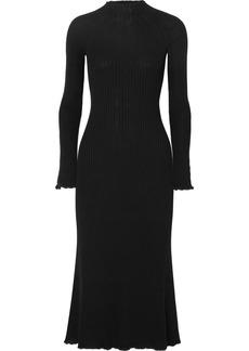 Sonia Rykiel Ribbed Wool-blend Midi Dress