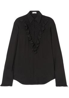 Sonia Rykiel Ruffled Silk Crepe De Chine Shirt