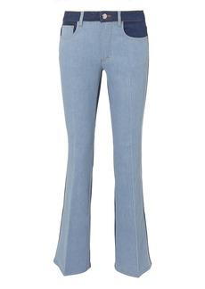 Sonia Rykiel Saint Germain Striped Crop Flare Jeans