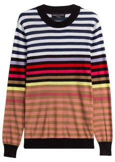 Sonia Rykiel Silk-Cotton Striped Pullover