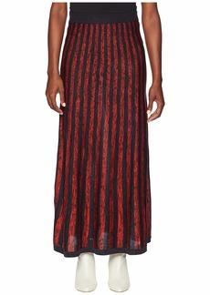Sonia Rykiel Silk Mouline Stripes Skirt