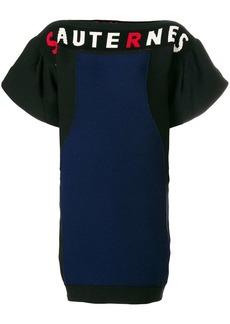 Sonia Rykiel slogan colour-block dress