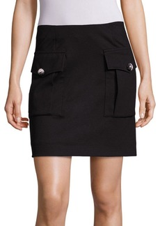 Sonia by Sonia Rykiel Solid Flap Pocket Skirt