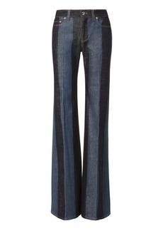 Sonia Rykiel Striped Denim Wide Leg Pants