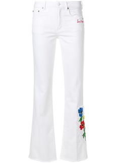 Sonia Rykiel anemone detail flared trousers - White