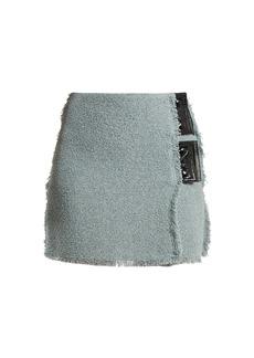 Sonia Rykiel Bouclé vinyl-detail mini skirt
