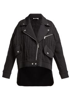 Sonia Rykiel Cable-knit biker cardigan