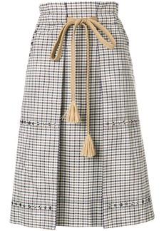 Sonia Rykiel checked pencil skirt - Nude & Neutrals