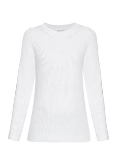 Sonia Rykiel Chunky-knit back-overlay sweater