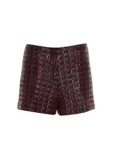 Sonia Rykiel Coated-tweed tailored shorts
