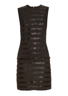 Sonia Rykiel Collarless striped tweed dress