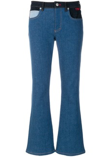 Sonia Rykiel contrast flared jeans - Blue
