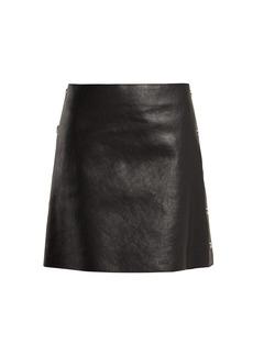 Sonia Rykiel Crackled leather mini skirt