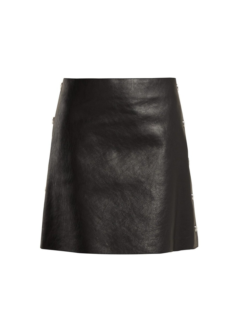 e9d28b8072 Sonia Rykiel Sonia Rykiel Crackled leather mini skirt | Skirts