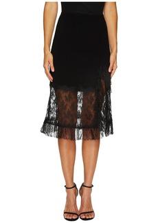 Sonia Rykiel Crepe Satin & Dentelle Skirt