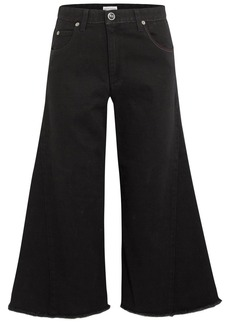 Sonia Rykiel Cropped high-rise wide-leg jeans