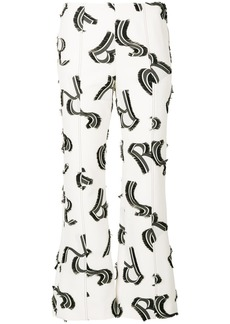 Sonia Rykiel cropped print trousers - White