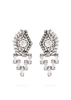 Sonia Rykiel Crystal-embellished drop earrings