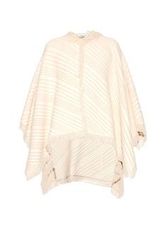 Sonia Rykiel Diagonal-knit cotton-blend poncho