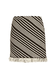 Sonia Rykiel Diagonal-stripe mini skirt